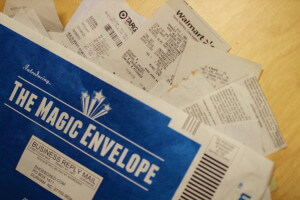 Shoeboxed Magic Envelope Receipts