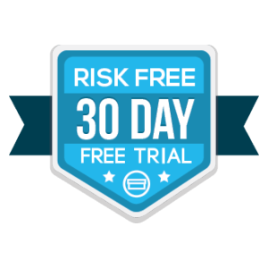 Free Trial Badge Risk Free 30 day month long