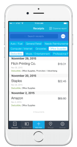 Shoeboxed Screenshot iPhone Receipts Store
