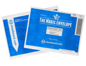 The Magic Envelope Blue Envelope Shoeboxed