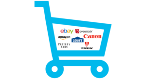 Shopping Card Ebay Amazon Overstock Lowe's Canon Pottery Barn Treck