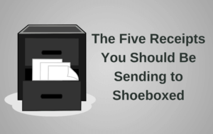 Five Receipts Tax Season Advice Paperless Receipts 5 Shoeboxed Reimbursements