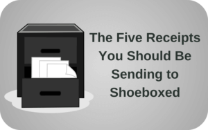 Five Receipts Tax Season Advice Paperless Receipts 5 Shoeboxed