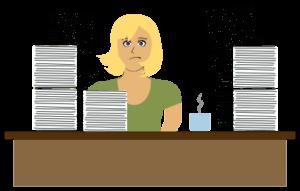 Receipt Clutter Paperwork Stress Overwhelmed