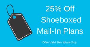 25% off Shoeboxed Mail-in Plans Discount Coupon Sale Week Only