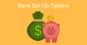 Shoeboxed Bank Set-up Options